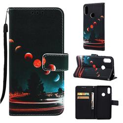 Wandering Earth Matte Leather Wallet Phone Case for Huawei Honor 8A