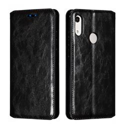 Retro Slim Magnetic Crazy Horse PU Leather Wallet Case for Huawei Honor 8A - Black
