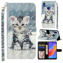 Kitten Cat 3D Leather Phone Holster Wallet Case for Huawei Honor 8A