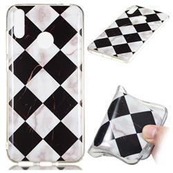 Black and White Matching Soft TPU Marble Pattern Phone Case for Huawei Honor 8C