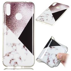 Black white Grey Soft TPU Marble Pattern Phone Case for Huawei Honor 8C