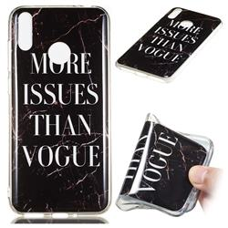Stylish Black Soft TPU Marble Pattern Phone Case for Huawei Honor 8C