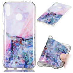 Purple Amber Soft TPU Marble Pattern Phone Case for Huawei Honor 8C