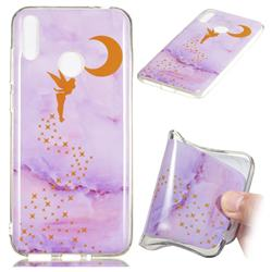 Elf Purple Soft TPU Marble Pattern Phone Case for Huawei Honor 8C