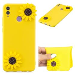 Yellow Sunflower Soft 3D Silicone Case for Huawei Honor 8C