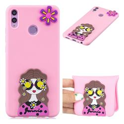Violet Girl Soft 3D Silicone Case for Huawei Honor 8C