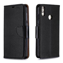 Classic Luxury Litchi Leather Phone Wallet Case for Huawei Honor 8C - Black