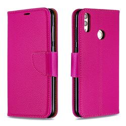 Classic Luxury Litchi Leather Phone Wallet Case for Huawei Honor 8C - Rose