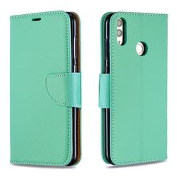 Classic Luxury Litchi Leather Phone Wallet Case for Huawei Honor 8C - Green