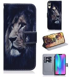 Lion Face PU Leather Wallet Case for Huawei Honor 8C
