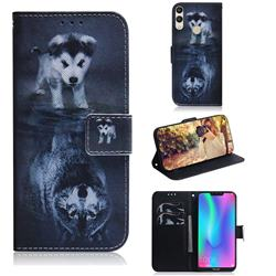 Wolf and Dog PU Leather Wallet Case for Huawei Honor 8C