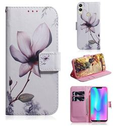 Magnolia Flower PU Leather Wallet Case for Huawei Honor 8C