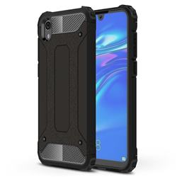 King Kong Armor Premium Shockproof Dual Layer Rugged Hard Cover for Huawei Honor 8S(2019) - Black Gold