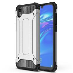 King Kong Armor Premium Shockproof Dual Layer Rugged Hard Cover for Huawei Honor 8S(2019) - White