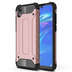 King Kong Armor Premium Shockproof Dual Layer Rugged Hard Cover for Huawei Honor 8S(2019) - Rose Gold