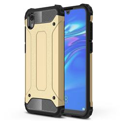 King Kong Armor Premium Shockproof Dual Layer Rugged Hard Cover for Huawei Honor 8S(2019) - Champagne Gold
