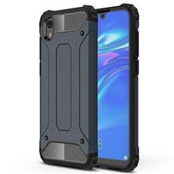 King Kong Armor Premium Shockproof Dual Layer Rugged Hard Cover for Huawei Honor 8S(2019) - Navy