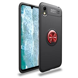 Auto Focus Invisible Ring Holder Soft Phone Case for Huawei Honor 8S(2019) - Black Red