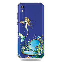 Mermaid Clear Varnish Soft Phone Back Cover for Huawei Honor 8S(2019)