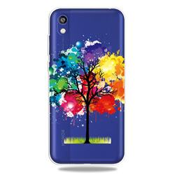 Oil Painting Tree Clear Varnish Soft Phone Back Cover for Huawei Honor 8S(2019)