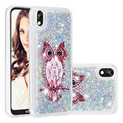 Seashell Owl Dynamic Liquid Glitter Quicksand Soft TPU Case for Huawei Honor 8S(2019)
