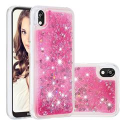 Dynamic Liquid Glitter Quicksand Sequins TPU Phone Case for Huawei Honor 8S(2019) - Rose