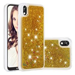 Dynamic Liquid Glitter Quicksand Sequins TPU Phone Case for Huawei Honor 8S(2019) - Golden