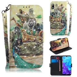 Beast Zoo 3D Painted Leather Wallet Phone Case for Huawei Honor 8S(2019)