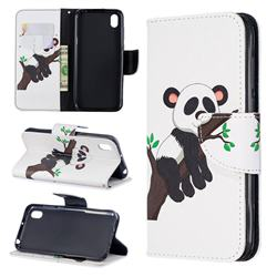 Tree Panda Leather Wallet Case for Huawei Honor 8S(2019)