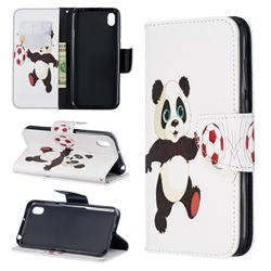 Football Panda Leather Wallet Case for Huawei Honor 8S(2019)