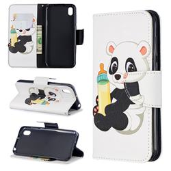 Baby Panda Leather Wallet Case for Huawei Honor 8S(2019)