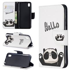 Hello Panda Leather Wallet Case for Huawei Honor 8S(2019)