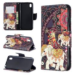 Totem Flower Elephant Leather Wallet Case for Huawei Honor 8S(2019)