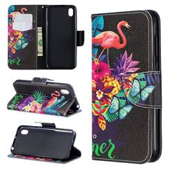 Flowers Flamingos Leather Wallet Case for Huawei Honor 8S(2019)