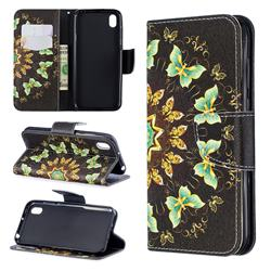 Circle Butterflies Leather Wallet Case for Huawei Honor 8S(2019)