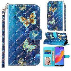 Rankine Butterfly 3D Leather Phone Holster Wallet Case for Huawei Honor 8S(2019)