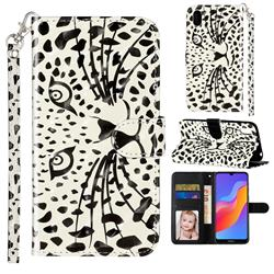 Leopard Panther 3D Leather Phone Holster Wallet Case for Huawei Honor 8S(2019)
