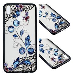 Butterfly Lace Diamond Flower Soft TPU Back Cover for Huawei Honor 8X