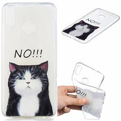 Cat Say No Clear Varnish Soft Phone Back Cover for Huawei Honor 8X