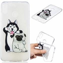 Selfie Dog Clear Varnish Soft Phone Back Cover for Huawei Honor 8X