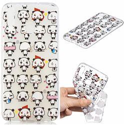 Mini Panda Clear Varnish Soft Phone Back Cover for Huawei Honor 8X