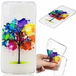 Oil Painting Tree Clear Varnish Soft Phone Back Cover for Huawei Honor 8X