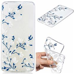 Magnolia Flower Clear Varnish Soft Phone Back Cover for Huawei Honor 8X