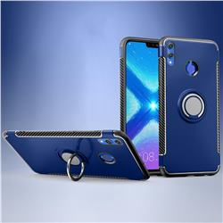 Armor Anti Drop Carbon PC + Silicon Invisible Ring Holder Phone Case for Huawei Honor 8X - Sapphire