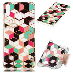Three-dimensional Square Soft TPU Marble Pattern Phone Case for Huawei Honor 8X