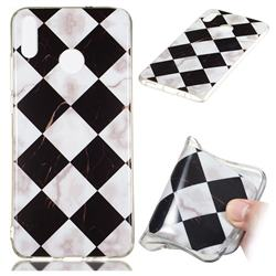 Black and White Matching Soft TPU Marble Pattern Phone Case for Huawei Honor 8X