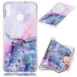 Purple Amber Soft TPU Marble Pattern Phone Case for Huawei Honor 8X