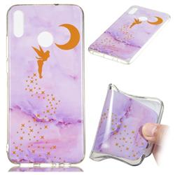 Elf Purple Soft TPU Marble Pattern Phone Case for Huawei Honor 8X