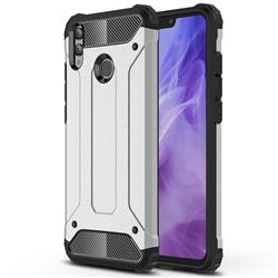 King Kong Armor Premium Shockproof Dual Layer Rugged Hard Cover for Huawei Honor 8X - Technology Silver