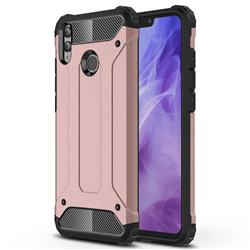 King Kong Armor Premium Shockproof Dual Layer Rugged Hard Cover for Huawei Honor 8X - Rose Gold